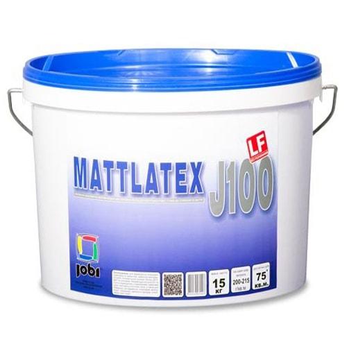 КРАСКА латексная JOBI Mattlatex J100 (15кг) износоустойчивая