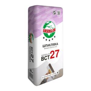 ШТУКАТУРКА финишная ANSERGLOB BCT 27 (20кг) светло-серая
